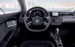 Picture sea, the city, Volkswagen, XL1, the view from the driver's seat