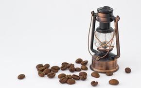 Picture lamp, coffee, grain, brown