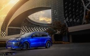 Picture blue, tuning, cayenne, porsche, drives, Porsche, kit