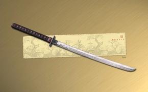 Picture figure, sword, katana