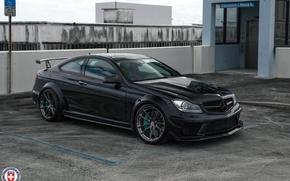 Picture Mercedes, AMG, Black, Series, C63, HRE, P104