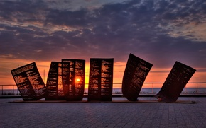 Picture Netherlands, monument, Katwijk, lost fisherman