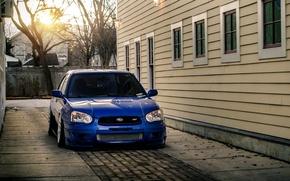 Picture Subaru, Impreza, WRX, blue, front, Subaru, Impreza