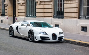 Picture Bugatti, Veyron, White, Street, Super, Sport