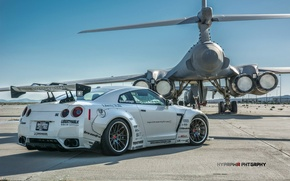 Picture tuning, Lancer, Nissan, GT-R, bomber, and, B-1B, Liberty Walk