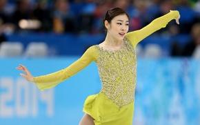 Picture girl, figure, Yuna, Nice, Kim, Skating, Corea, Olimpic
