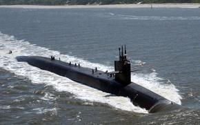 Wallpaper Navy, USA, APL Florida, the Ohio class