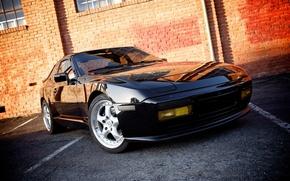 Picture auto, black, Porsche, Porsche, 1989, 944