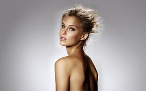 Picture look, background, model, brunette, hairstyle, freckles, Bar Refaeli, beauty, Bar Refaeli
