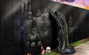 Picture Star Wars, plate, Darth Vader, droid, stormtroopers, memorial