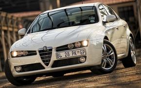 Picture Alfa Romeo, Front, Alfa, Romeo, White, 159, Alfa Cars, Alfa 159, Alfa Romeo 159 Ti