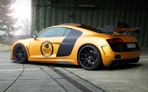 Picture Audi, Audi, tuning, supercar, gold, GT850, Prior-Design