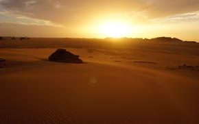 Picture sand, the sky, landscape, sunset, desert, sugar, Algeria