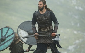 Picture the series, axe, Vikings, The Vikings, Clive Standen, Rollo