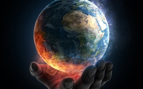 Picture earth, planet, destruction, humanity