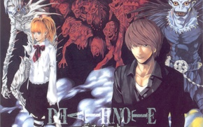 Picture skull, cross, blouse, death note, death note, demons, amane misa, yagami light, ryuk, rem, by …