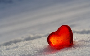 Picture snow, heart, ice