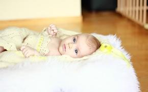 Picture girl, look, mood, baby, children, child, baby