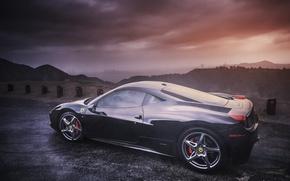 Picture profile, Ferrari, Ferrari, 458, Italy, Italia, profile
