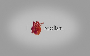 Wallpaper love, heart, realism