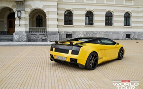 Picture machine, gallardo, lamborghini, Lamborghini, yellow, mark, Italian