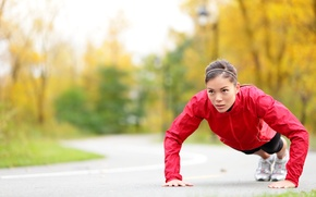 Picture fitness, workout, pushups