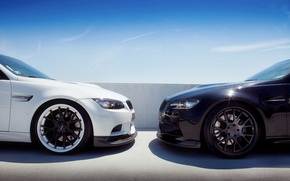 Picture BMW, black, white, 3Series, two, brother