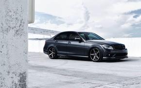 Picture Auto, Black, Machine, Tuning, Mercedes, Sedan, Mercedes Benz, C Class