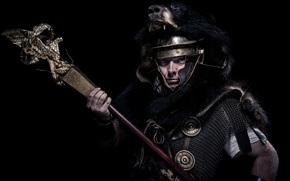 Picture background, armor, warrior, Rome, helmet, fur, male, mail
