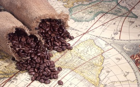 Picture coffee, Atlas, bags, Coffee beans