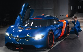 Picture machine, Concept, light, lights, garage, the concept, Renault, Alpine, A110-50