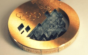 Picture macro, gold, medal, gold medal, Olympic games, Sochi 2014