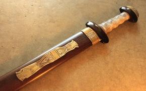 Picture decorated, sword short, Gladius