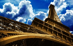 Wallpaper the sky, France, Paris, tower