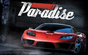 Wallpaper burnout paradise, couples, wet asphalt