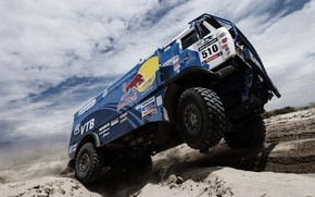 Picture The sky, Clouds, Red Bull, KAMAZ, Rally, KAMAZ, Dakar, The roads