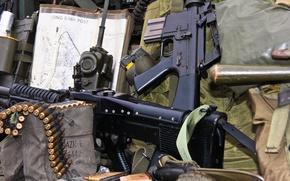 Picture cartridges, machine gun, ammunition, M16, radio, assault rifle, M60