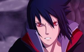 Picture Naruto, look., akatsuki, sharingan, Uchiha Sasuke