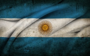 Picture The sun, flag, old, Argentina