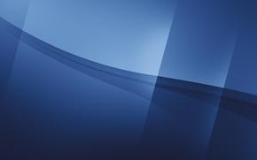 Picture line, strip, blue tones