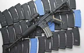 Picture weapons, machine, stores, AR-15, assault rifle