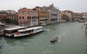 Picture water, the city, river, Venice, cruise