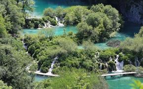 Picture lake, plitvice lakes, Croatia, cascades, kroatien, Plitvice