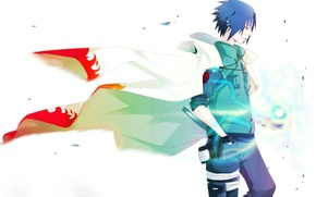 Wallpaper Anime, Naruto, Naruto, Cape, short hair, Uchiha Sasuke, Uchiha Sasuke, Rasengan