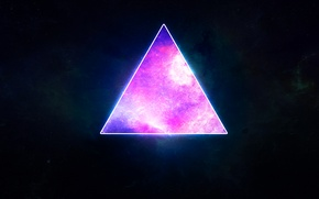 Picture stars, planet, Space, triangle
