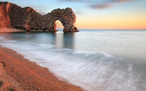 Wallpaper Paradise, arch, shore, beach, sea, rocks, calm, stones
