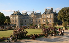Picture Park, people, France, Paris, Paris, Palace, France, sculpture, The Luxembourg Palace, palace