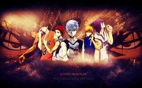 Picture sport, anime, basketball players, Murasakibara Atsushi, Kuroko Tetsuya, Daiki Aomine, Kuroko from Basket, Shintaro Midorima, …