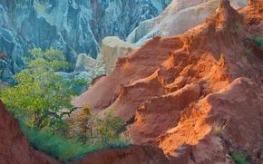 Picture autumn, trees, mountains, rocks, Madagascar, Ankarafantsika National Park, Ankarokaroka canyon