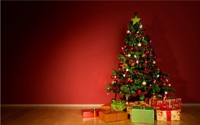 Wallpaper balls, toys, tree, new year, gifts